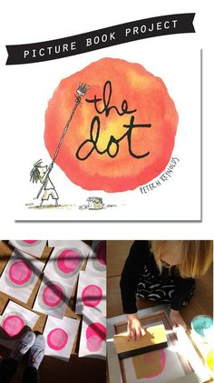 Great projects to share with your children after reading, The Dot by Peter H. Reynolds...
