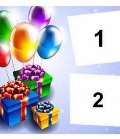 Tarjeta de cumpleaños con marco de fotos rojo, globos y pasteles para - Fotoefectos Happy Birthday Pictures, Happy Birthday Text, Happy Birthday Photos, Happy Birthday Quotes, Happy Birthday Pics