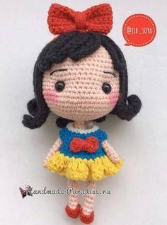 Вяжем куколку - принцессу амигуруми (8)