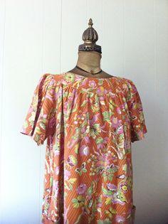 Vintage 1970s Dress La Rosa San Francisco Muumuu by ArtDecoDame,