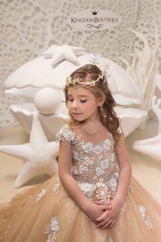e587df9812af3e Gold Lace Tulle Dress - Birthday Wedding party Bridesmaid Holiday Gold  Tulle Lace Dress 21-066. Jurken Voor Kleine MeisjeMeisjes JurkenGouden ...