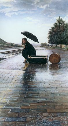 waiting for the train by steve hanks (via J2-Gallery)