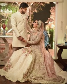 A picture perfect moment from Sanaa & Adeels gorgeous ceremony. We are excited to share teasers from the Karachi chapter of their wedding… Pakistani Fancy Dresses, Pakistani Wedding Outfits, Pakistani Wedding Dresses, Pakistani Dress Design, Bridal Outfits, Indian Dresses, Indian Outfits, Designer Anarkali Dresses, Designer Dresses