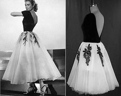 #PLUSSize1950s  #GraceKelly Dress... from #RearWindow Gorgeous interpretation with FULL Tulle Layered Skirt...