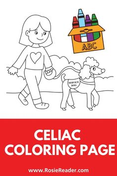 This celiac coloring page is fabulous and FREE! Coloring Sheets For Kids, Animal Coloring Pages, Coloring Pages For Kids, Activities For 5 Year Olds, Preschool Activities, Adhd Kids, Children With Autism, Celiac Disease In Children, Reading Adventure