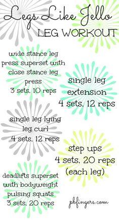 Legs Like Jello Leg Workout from Peanut Butter Fingers