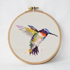 Hummingbird Cross Stitch Pattern pdf Instant Download