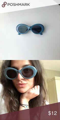 e540ff11f576 Navy Blue Vintage Clout Goggles Kurt Cobain frames • vintage clout goggles  • round oval frame