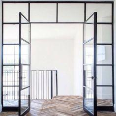 Upstairs bonus doors. Secondary front doors after Herringbone.