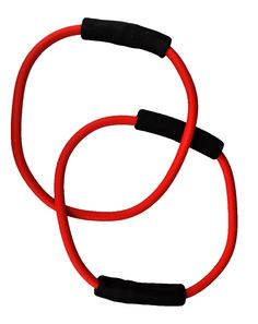Our Pure Barre double tubing is featured in our 16th Street DVD set and is a great variation to our standard single resistance tubing. Switch it up with this mid-level resistance double band and keep your muscles guessing!   Want even more variety? Download our 16th Street 1 and 2 audio podcasts for the perfect workout on the go.
