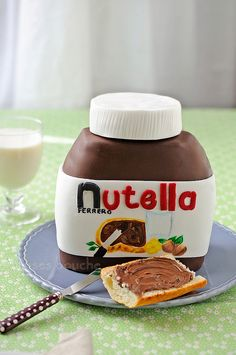 Nutella Jar Cake @Lauren Davison Davison Boone I thought you might enjoy this! ;)