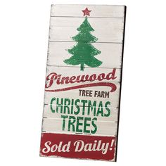 Vintage inspired Christmas tree sign - cute!