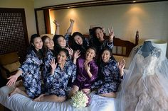 bridesmaids floral robe is ❤️❤️❤️