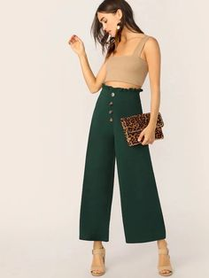 Luxury and High Street Fashion Accessories meets here. Loose Pants, Wide Leg Pants, Paperbag Waist Trousers, Tie Dye Pants, Spandex Pants, Type Of Pants, Drawstring Pants, Spring Fashion, Pants For Women
