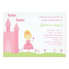 Pretty Princess Birthday Invitation