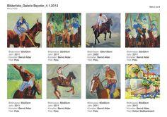 Bilder  von Polospielern und Pferde.