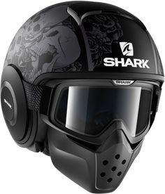 Shark Raw Drak Sanctus Matt Black 2