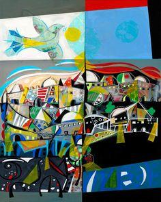 Yoël Benharrouche, Les anges de jérusalem (Lacquer), 2015, Eden Fine Art