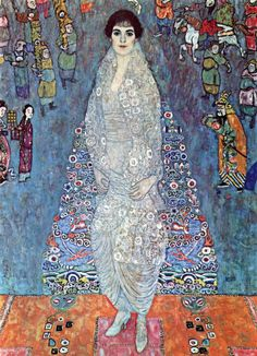 Gustav Klimt - Baroness Elizabeth - 1914 - 1916 Oil on canvas 180 × 126 cm