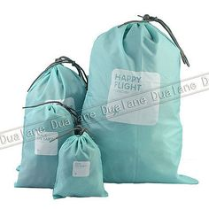 4pcs-Waterproof-Nylon-Travel-Storage-Cosmetic-Clothes-Organize-Pouch-Bag-Blue