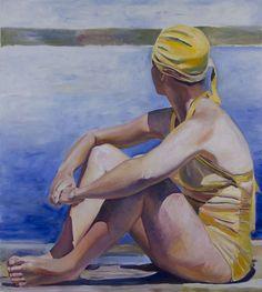 Elizabeth  Gorek - Lost Summer  Oil on Canvas  54 x 48 in