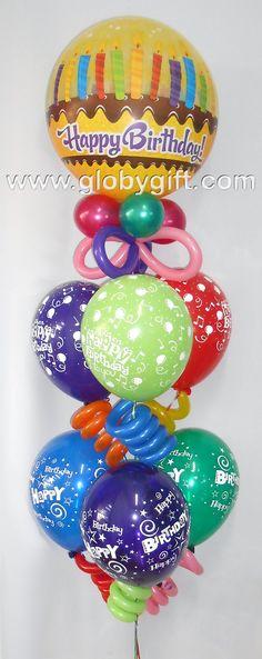 Decoracion con globos on pinterest balloon arch - Decoracion con globos para cumpleanos ...
