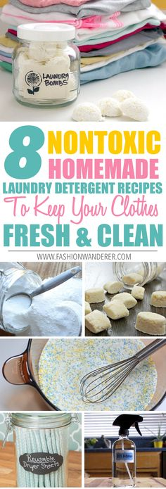 8 Nontoxic Homemade Laundry Detergent Recipes To Keep Your Clothes Fresh and Clean
