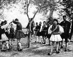 Εύζωνες χορεύουν στην Άρτα, c. 1897