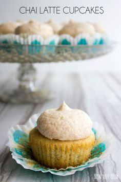 These Chai Latte Cupcakes are a tea party inspired treat that will stop time!