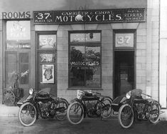 Vintage Image 1916 Indian Motorcycle Shop 8 x 10 by PixelHistory
