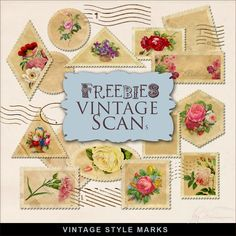 New Freebies Vintage Style Marks:Far Far Hill - Free database of digital illustrations and papers