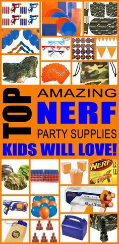 Nerf Party Supplies! Find fun Nerf products for your next birthday party, maybe a baby shower or just because. Perfect Nerf party theme ideas for boys and girls, teens, tweens, kids and adults. Cool photo booths props, balloons, decorations, games, favors, food, plates, napkins and more!