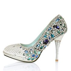 somthing blue crystal bridal shoes