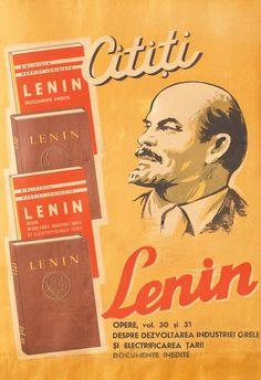 "Socialist Republic of Romania, ""Read Lenin"", Socialist State, Socialism, Communism, Romanian People, Romania Map, Communist Propaganda, Earth And Solar System, Retro, Central And Eastern Europe"