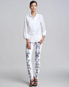 http://ncrni.com/roberto-cavalli-lace-applique-shirt-printed-jeans-p-3282.html