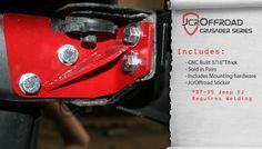 JcrOffroad: Rear Bumper Frame Tie-in - SWB Wrangler