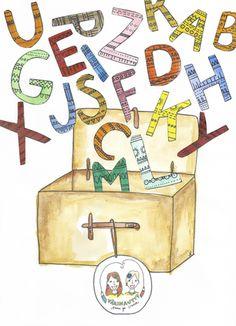 Värinauttien aakkosarkku on auki! Class Activities, Occupational Therapy, Literacy, Children, Kids, Language, Education, Christmas Ornaments, Holiday Decor