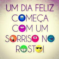 <p></p><p>Um dia feliz começa com um sorriso no rosto!</p>