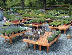 Wood Display Products - Rectangular Benches - B3 - Classic Cedar ...