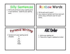 Rainbow words template also added a rainbow writing for Rainbow writing spelling words template
