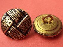 10 METALLKNÖPFE gold 15mm (1567-5) Knöpfe Metall