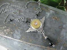 Shotgun Casing Jewelry  Bullet Jewelry  Winchester 20 by thekeyofa, $68.00. So gorgeous.