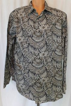 """""""CREMIEUX"""" 100% COTTON MEN'S PATTERNED BUTTON FRONT SHIRT XL - SEE ALL PICTURES"""