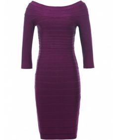 Purple Lois Bandage Dress