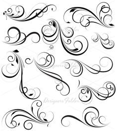 Abstract Swirl Tattoo | Swirly Designs | Celebrity Inspired Style, Hair, and Beauty                                                                                                                                                                                 More