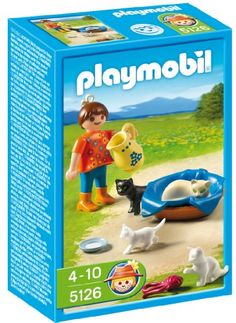 PLAYMOBIL Girl With Cats And Kittens - http://www.kidsdimension.com/playmobil-girl-with-cats-and-kittens/