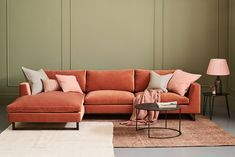 The Jasper Sofa from Love Your Home has angled arms to offset its squareness and to free up more elbow room. Choose from over 100 fabrics and create your perfect sofa. Corner Sofa Living Room Layout, Corner Sofa Chaise, Velvet Corner Sofa, Lounge Sofa, Living Room Sofa, Double Chaise Sofa, Dining Room, Couch, Small Lounge
