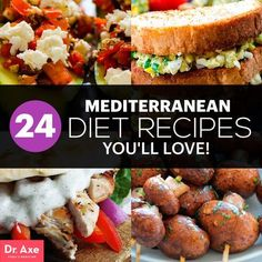 24 Mediterranean Diet Recipes - Dr. Axe (Thanks for featuring my slow cooker Mediterranean Beef Stew!)