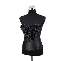 [US$29.97] - Black Satin Blossom Gothic Lolita Corset : GameCosplay.com