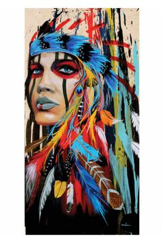 Water Color Indian Headdress